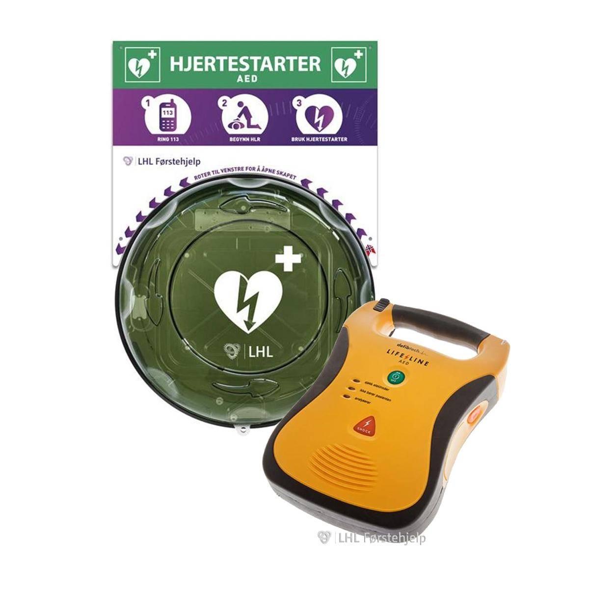Lifeline AED Hjertestarter - Norsk, med 7 års batteri
