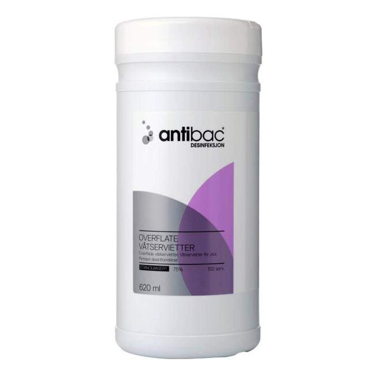Antibac 75% våtserviett overflate