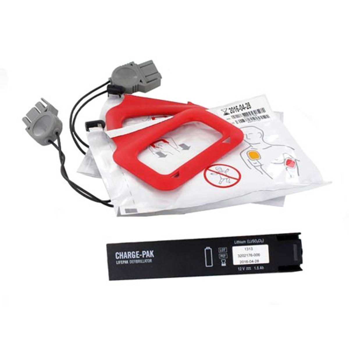 Lifepak CR Plus - Charge-Pak batteri og 1 par elektroder Voksen